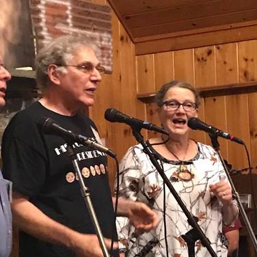 Larry Kaplan, Howie Bursen and Sally Rogers