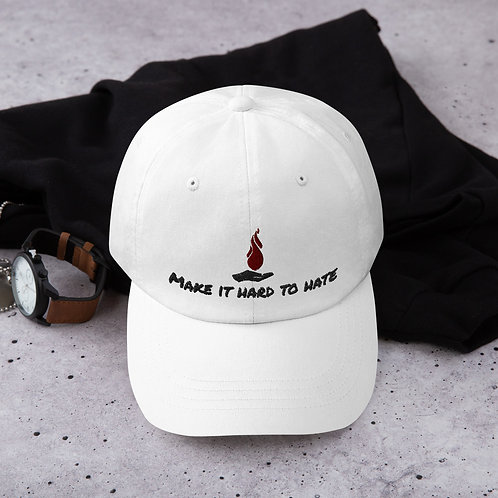 Make it hard to hate Dad Hat (light)