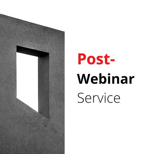 Post-Webinar (Package)