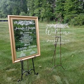 Wedding Mirror signage