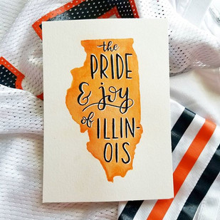 Chicago Bears Watercolor Print