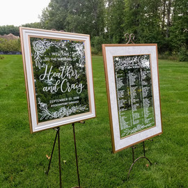 Wedding Welcome mirror and seating board