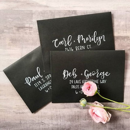 Black Envelope Calligraphy