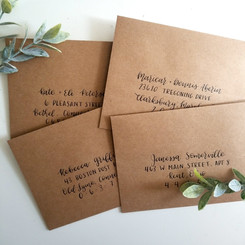 Kraft Paper envelope addressing