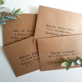 Kraft Paper envelope addressing