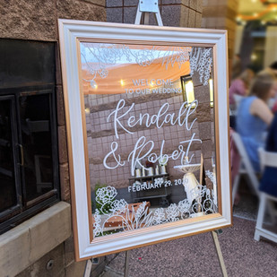 Desert Themed Wedding Mirror
