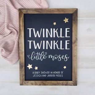 Twinkle twinkle baby shower chalkboard