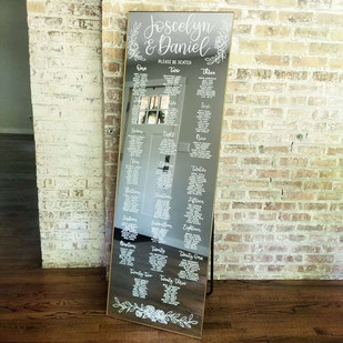 Extra large mirror seating board