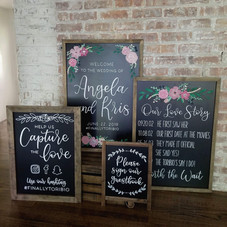 Hand painted chalkboard suite