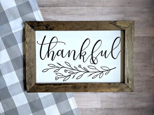 Thankful Sign | Custom Calligraphy | Chalkboard | 12x18