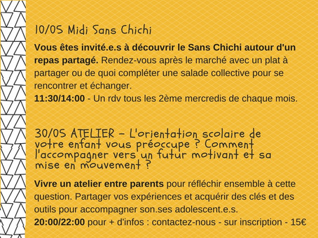Retrouvez les activités de Mµ et Gink-Go au Sans Chichi !
