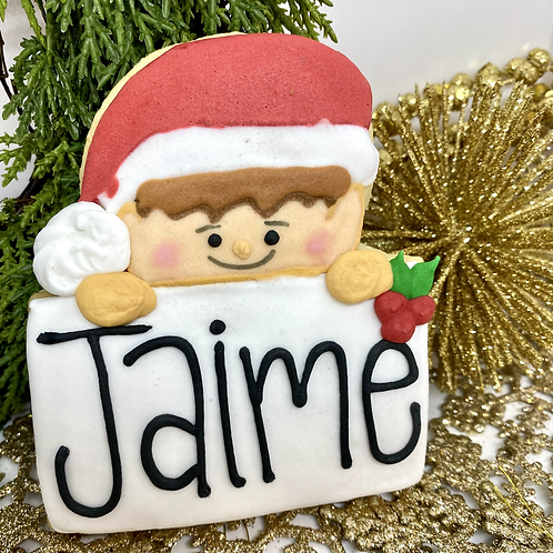 Elf Personalized Cookies