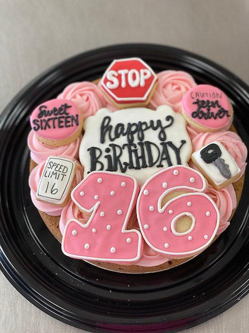 Sweet 16 Cookie Cake