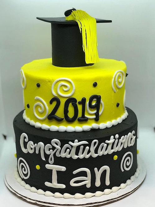 Funky Graduation Cake