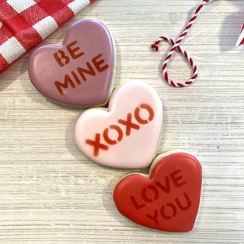 Mini Convo Heart Cookies