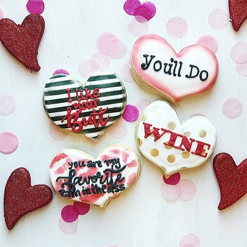 Funny Heart Cookies