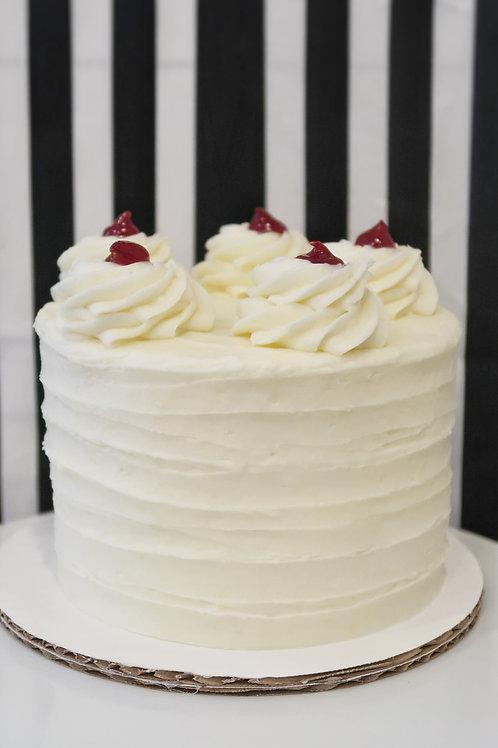 White Chocolate Lemon Raspberry Cake