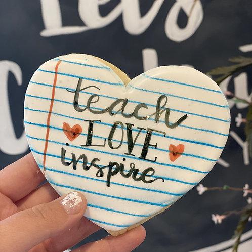 Teach, Love, Inspire Notebook Heart