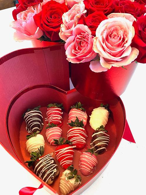 Heart Shaped Flower Box