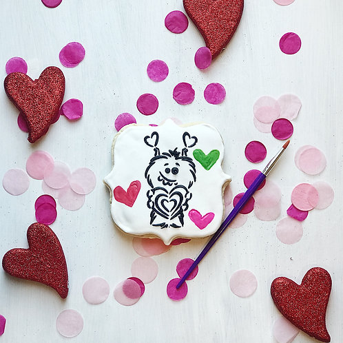 Paint Your Own V-Day Cookie