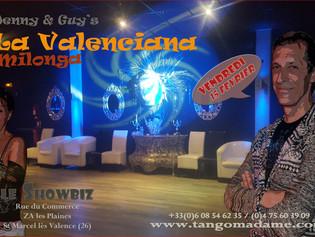 "Vendredi 15 Février, Milonga ""La Valenciana"" au Showbiz, Saint Marcel lès Valence"