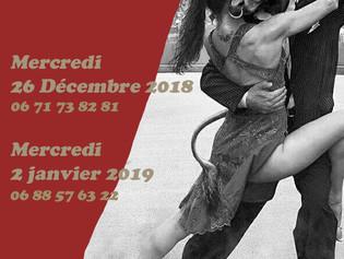 Pratiques Tango à Grenoble pendant les vacances de Noël!