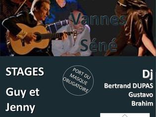 Stages Jenny & Guy et Concert La Marca Tango à Vannes en Avril!