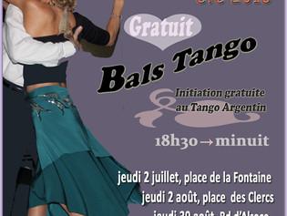 Jeudi 2 août, Milonga en plein air à Valence!