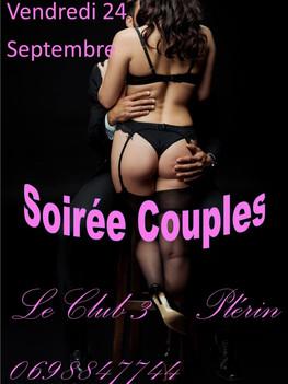 vendredi 24 septembre 2021, soirée couple au C3
