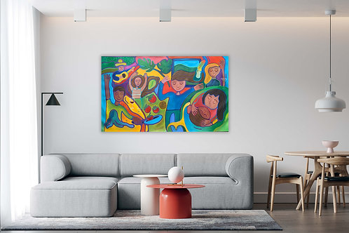 The Party - 64.5 in x 36 in