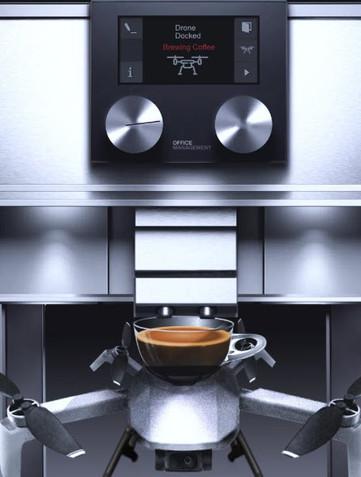 Världens första kaffemaskin med stöd för drönare