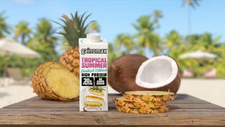 Populära Gainomax Tropical Summer proteindryck tillbaka!