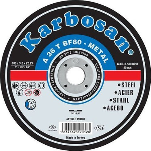 Karbosan 230x3,0x22 Düz Metal Kesme Taşı