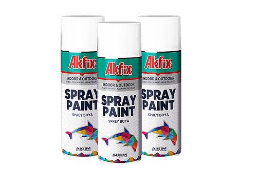 Akfix Sprey Boya - Yeşil, Siyah, Kırmızı, Sarı