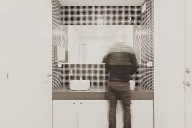 The bathroom #newoffices #newuse #architecture #renovation #interiors #rehabtime _rehabmeeee #archit