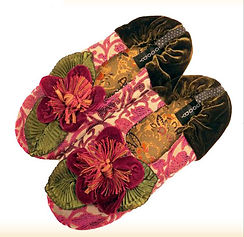 goody silk handmade slippers