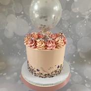 Celebration Cake with Balloon