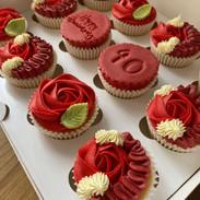Ruby Wedding Anniversary Cupcakes