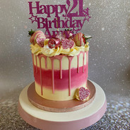 Celebration Cake with topper