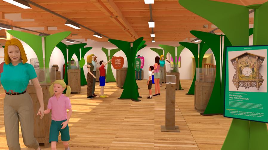 3D Simulation des ersten Ausstellungsraums