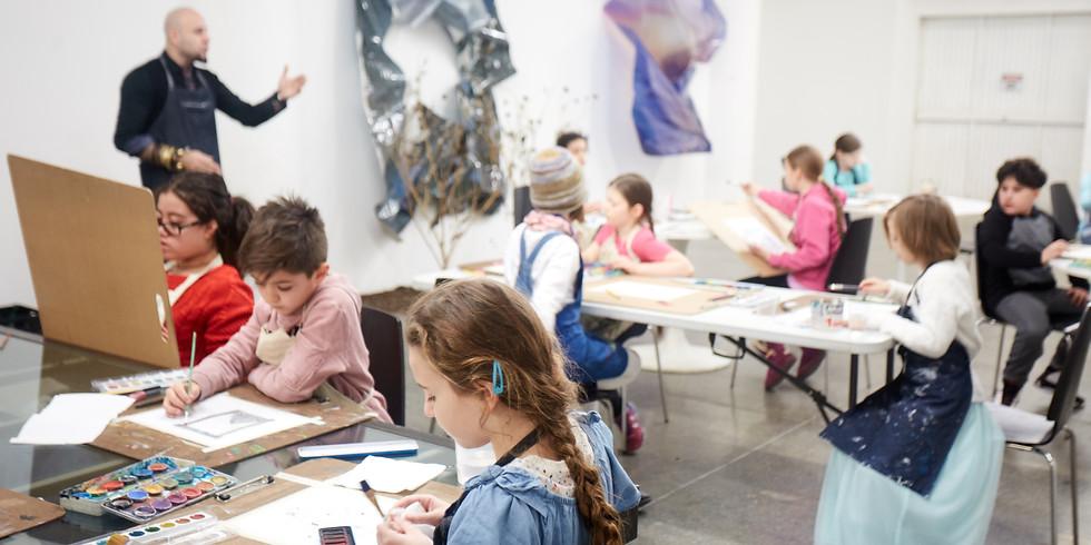 Pacheco's Aprons Canco Park / Mana Contemporary Children's art class April 6,2019