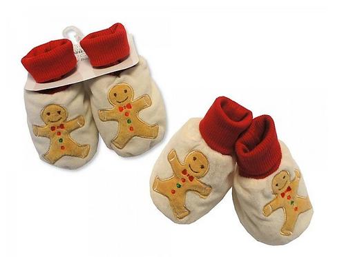 Gingerbread Man booties