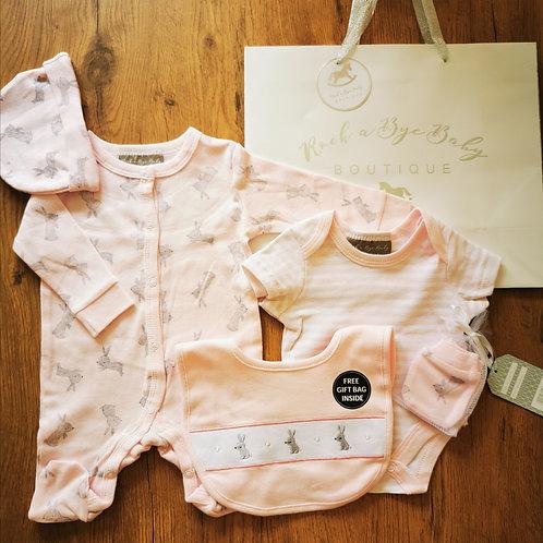 Pink Bunny 6 Piece gift set