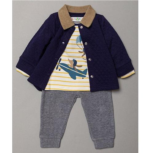 Boys 3 piece plane outfit