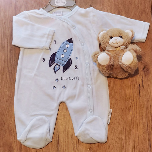 Rocket velour sleepsuit
