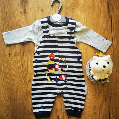 Striped Truck Dungarees