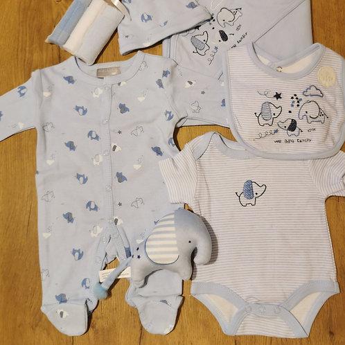 Elephant blue gift set