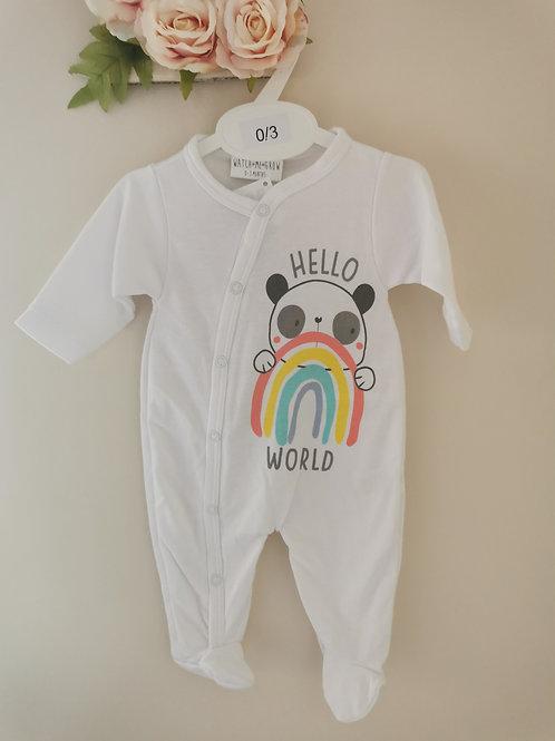 'Hello world' sleepsuit