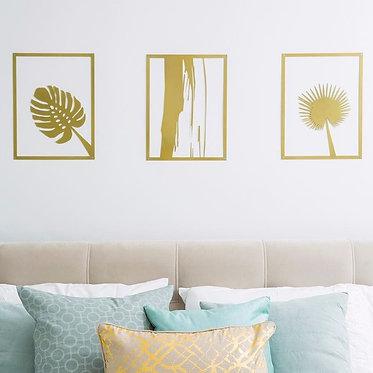 botanical metal wall art design | wall art | Home Style