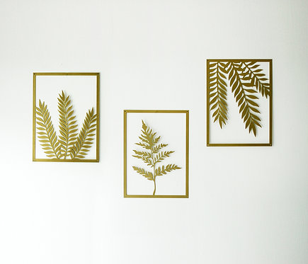 PLANTS | NATURE | GOLD | wall art | home style
